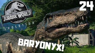 Jurassic World Evolution PL #24 - BARYONYX - Oswajanie Barego | gameplay po polsku