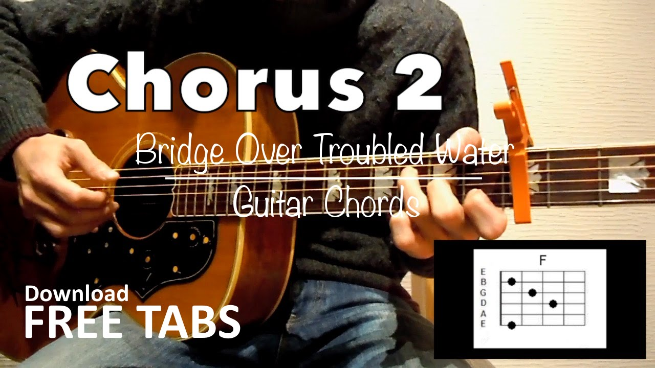 bridge over troubled water chords pdf