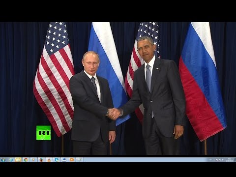 Путин и Обама пожали друг другу руки перед началом первой за два года двусторонней встречи