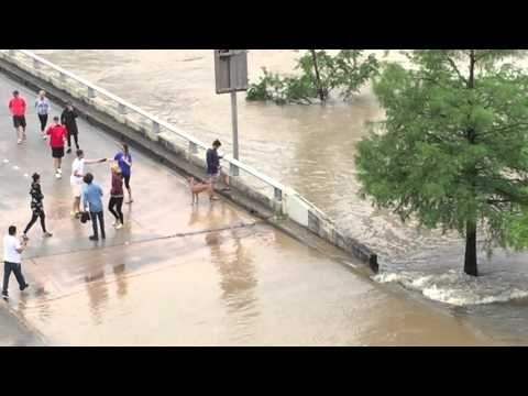 Historic Houston Flooding From University Of Houston Campus