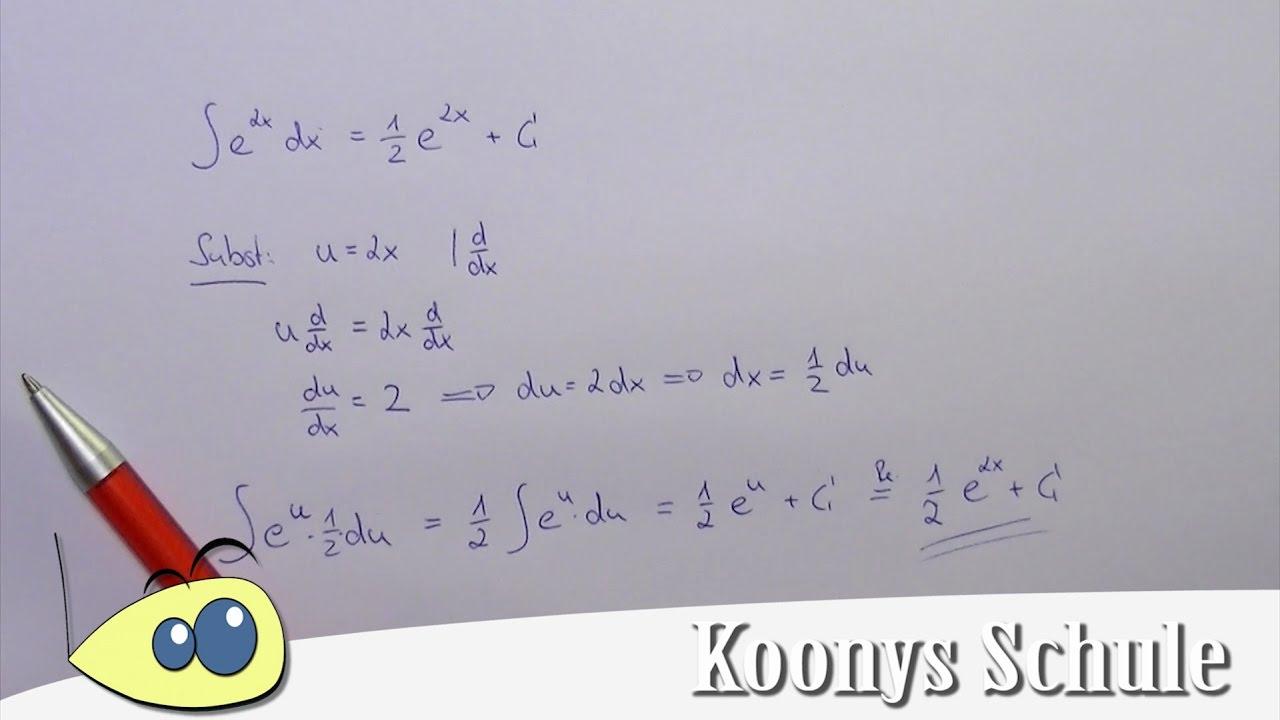 Substitution beim Integrieren an einem Beispiel erklärt ...