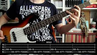 BARRICADA - Animal caliente (bass cover w/ Tabs)