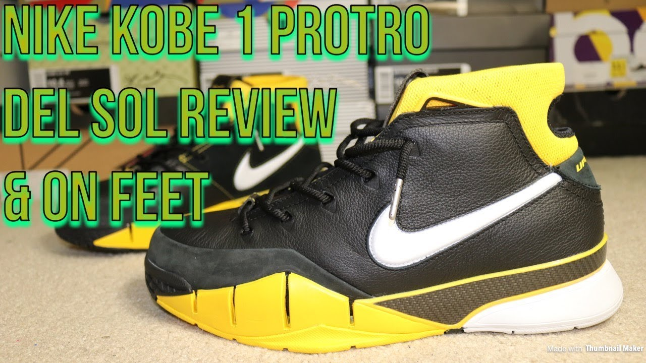 f41f69bf1dbe NIKE KOBE 1 PROTRO DEL SOL REVIEW   FIRE ON FEET!! - YouTube