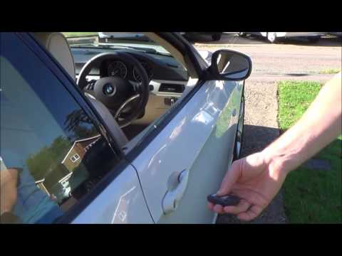 How To Operate The Open Close Convenience Feature On A Bmw 3 Series Youtube