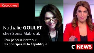 Nathalie Goulet invitée de Sonia Mabrouk pour parler du texte sur les principes de la République