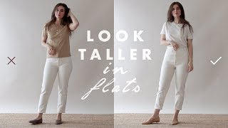 How to Look Taller & Slimmer - Petite Tips for Wearing Flats | Dearly Bethany