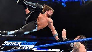 HINDI - AJ Styles vs. Baron Corbin: SmackDown LIVE, 20 February, 2018