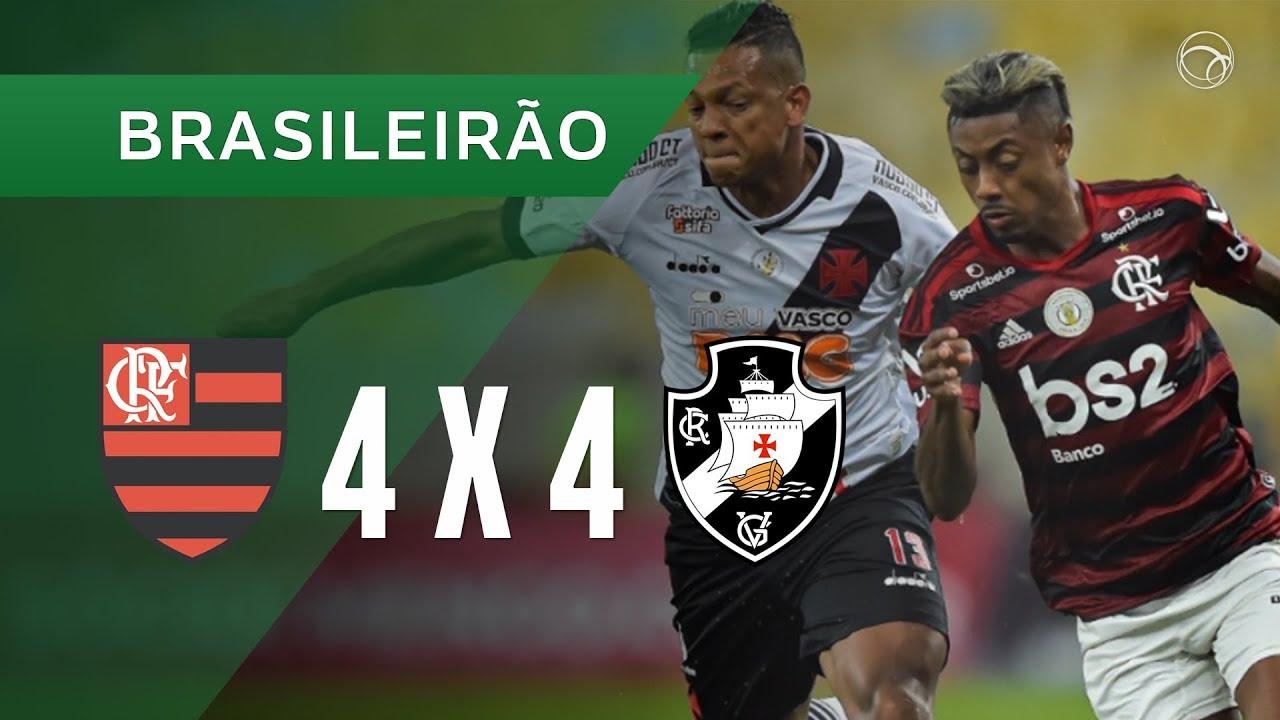 FLAMENGO 4 X 4 VASCO - GOLS - 13/11 - BRASILEIRÃO 2019