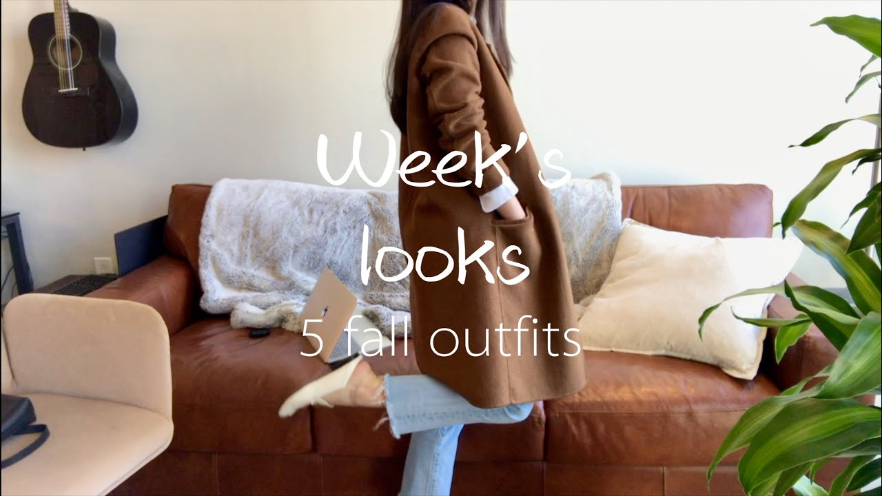 [VIDEO] - 5 outfit ideas| What to wear in fall?| Jeans Sweaters Coats| Levi's Aritzia Madewell and more 5