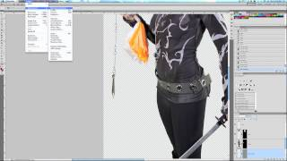 Photoshop Tutorial - Warp Tool and Chain Whip