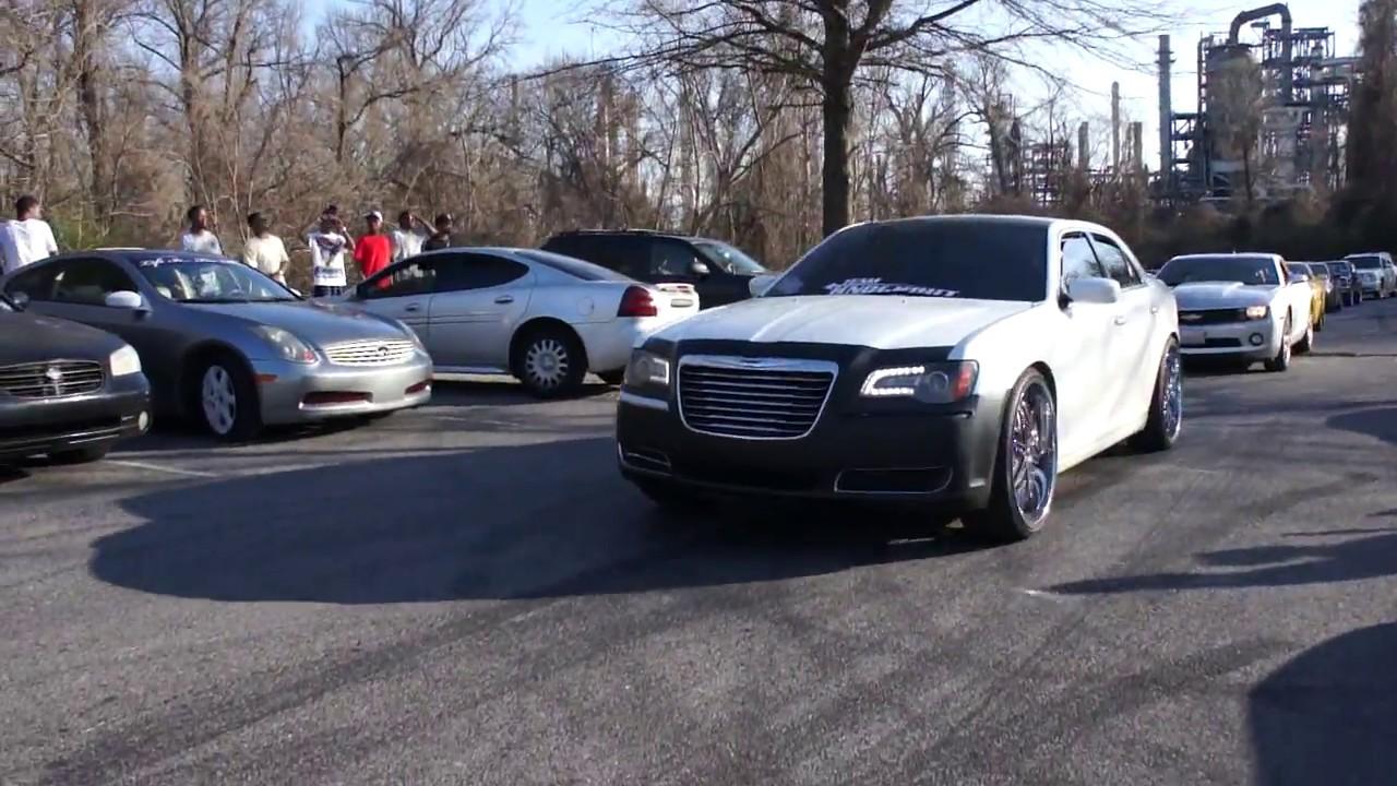 raheem's chrysler 300 on diablo wheels at mlk park - youtube