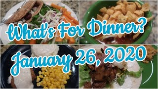 What's For Dinner?  Jan 26, 2020 | Easy Weeknight Meals | Cooking for Two
