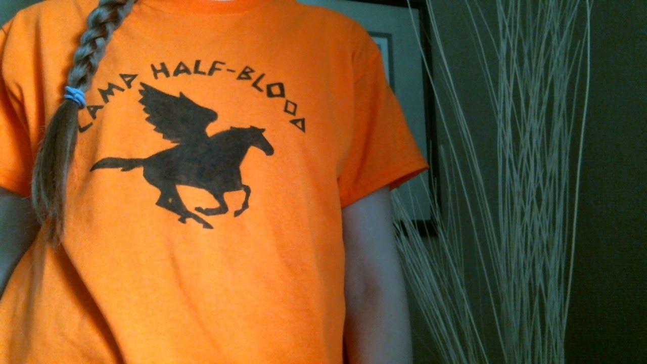 Diy Camp Half Blood T Shirt Youtube