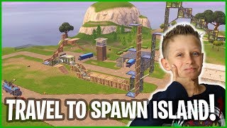 How to Glitch to SPAWN ISLAND and BACK! I Built a Massive Fun Course!