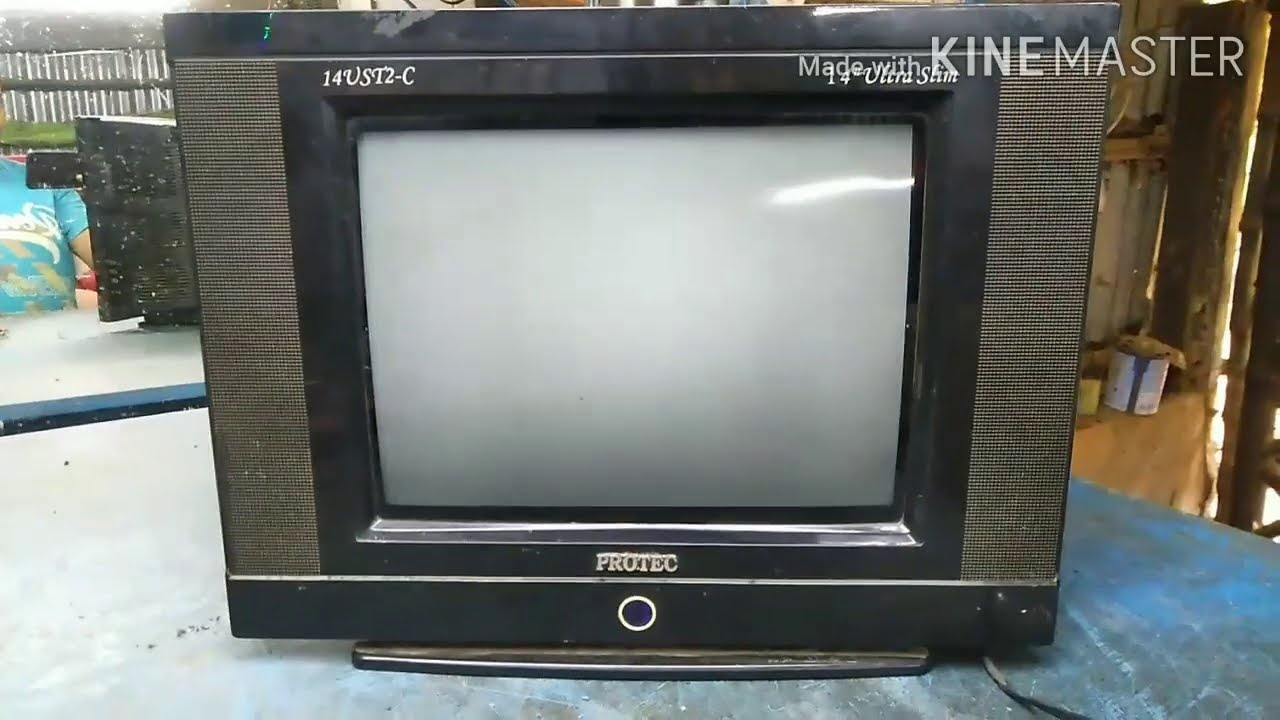 Protec 14 inch ultra slim CRT TV. Starting problem,