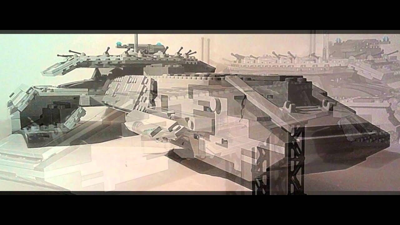 Lego Stargate Atlantis Moc Daedalus Class Warship