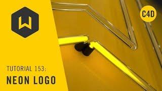 Machen Sie ein neon-logo in C4D - Tutorial 153: Neon Logo