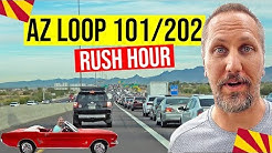 Gilbert, Arizona to Scottsdale, Arizona: AZ Loop 101 & 202 Freeway (Rush Hour)