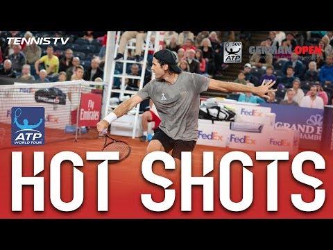Haas Hits Fine Backhand Hot Shot At Hamburg 2017