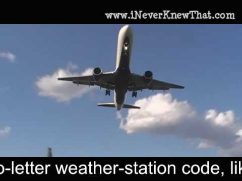 Airport Code Facts from iNeverKnewThat.com