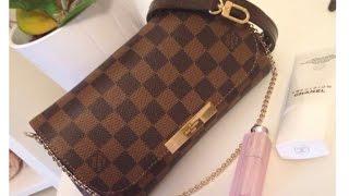 Louis Vuitton Favorite PM vs. Eva Clutch in Damier Ebene Thumbnail