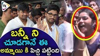 Watch Dj Duvvada Jagannadham Team Visits Tirumala | Huge Crowd @ Ti...