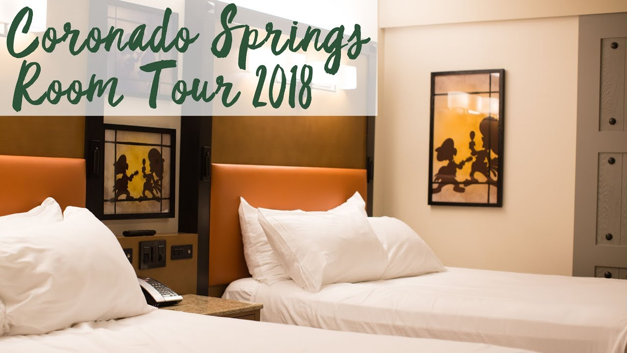 Disney S Coronado Springs Resort Refurbished Room Tour 2018 Walt
