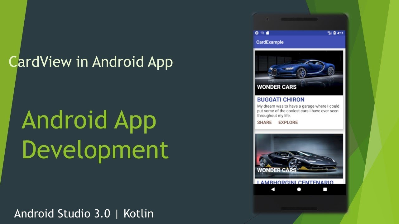 CardView in Android App | Android Studio 3 0 1 | Kotlin