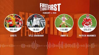 Chiefs, Kyle Shanahan, Jimmy G, Patrick Mahomes (2.03.20) | FIRST THINGS FIRST Audio Podcast