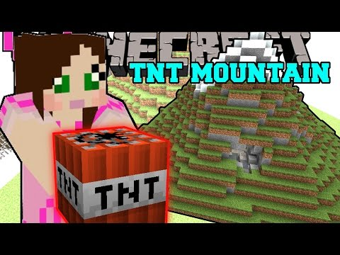 Minecraft: MOUNTAINS OF TNT! TOTAL HOUSE BOMBOVER - Mini-Game