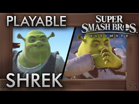 Super Smash Bros  Ultimate Modders Add In Shrek (For Some