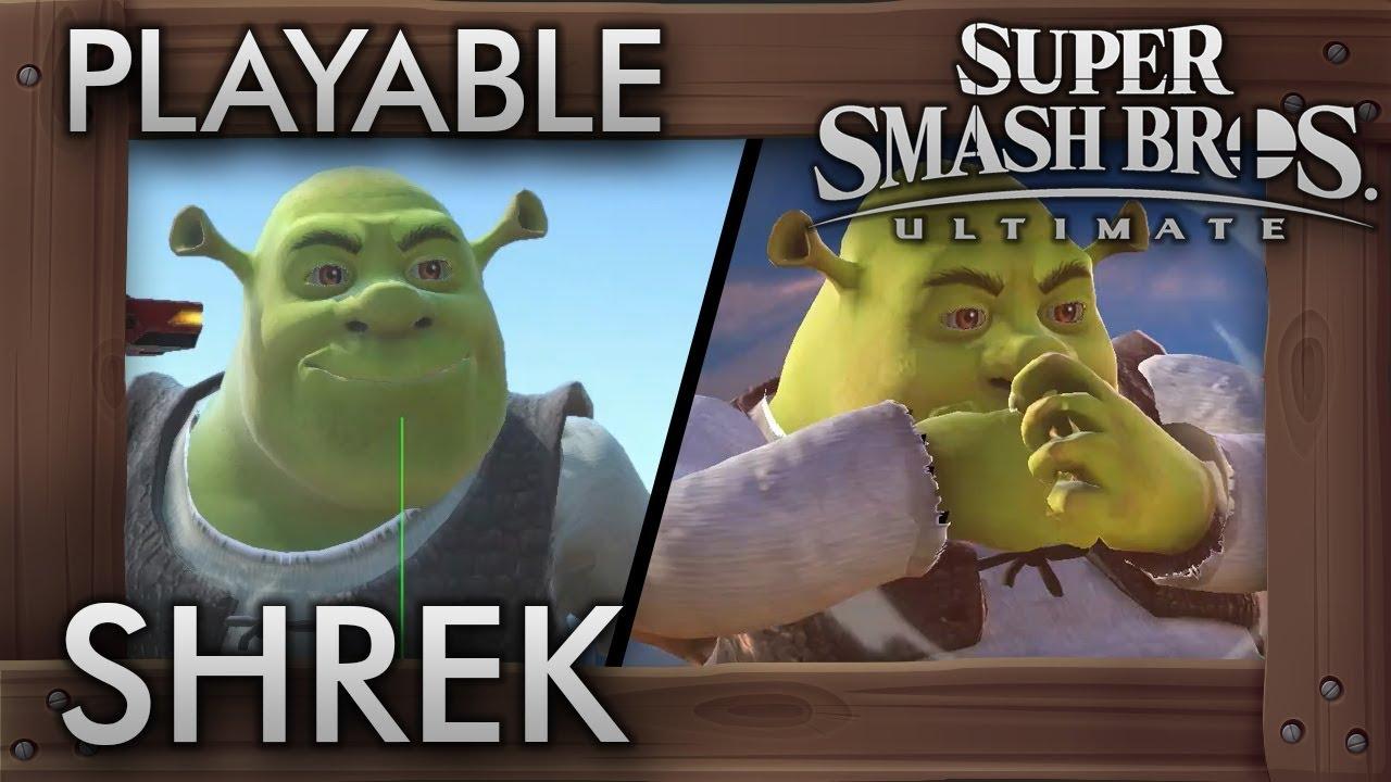 Super Smash Bros  Ultimate Modders Add In Shrek (For Some