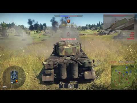 War Thunder  - tiger H1 - never give up