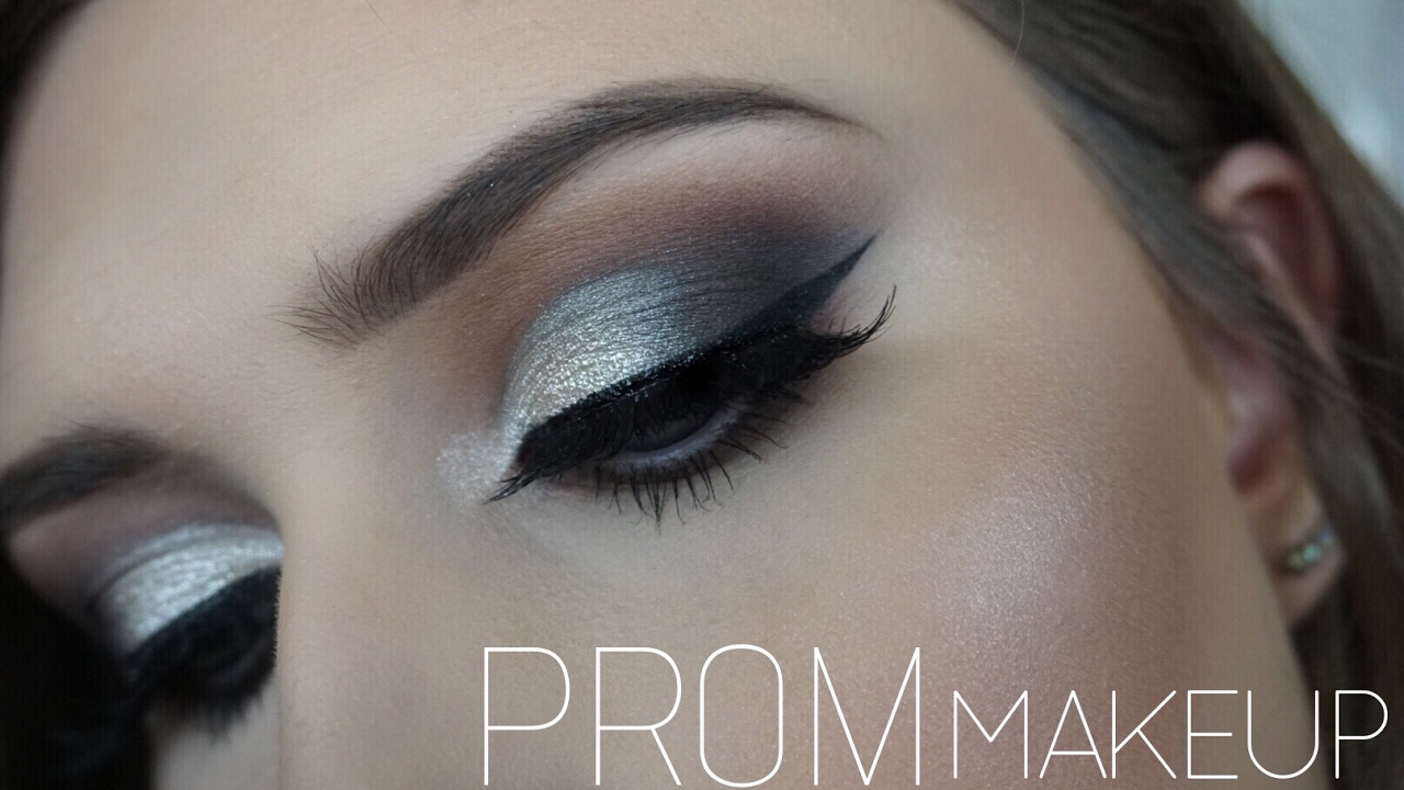 prom makeup silver smokey eye youtube