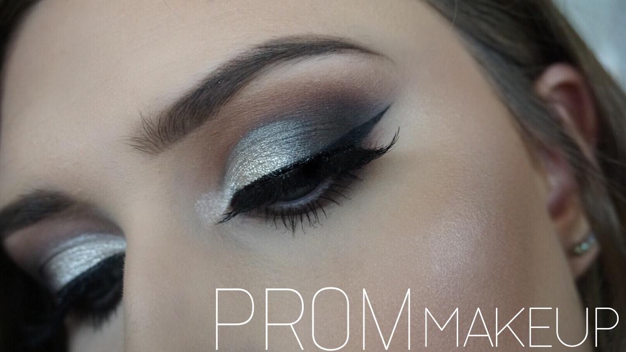 Prom Makeup Silver Smokey Eye You