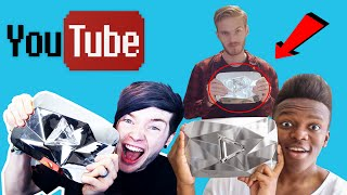 Top 6 Youtubers Who Unboxed Diamond Play Button Rewards (TheDiamondMinecart, DanTDM, PewDiePie,KSI)