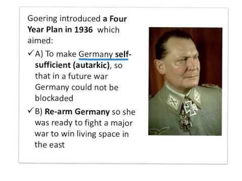 Goering's Four Year Plan (1936)