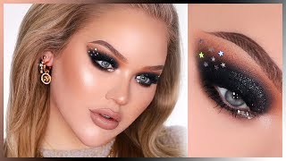 SPARKLY BLACK NYE SMOKEY EYES In-Depth Makeup Tutorial