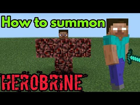 How To Summon HEROBRINE In Minecraft Pe   The_Gamer/Jayvee