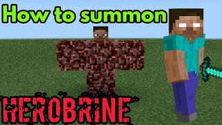 How to summon HEROBRINE in Minecraft Pe | The_Gamer/Jayvee
