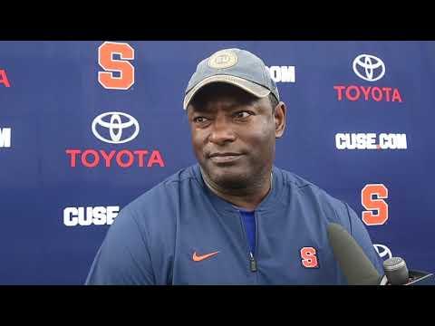 Syracuse football coach Dino Babers knows his starting QB, but won't name him