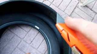Video How to Cut up Old Tires for Disposal or Projects download MP3, 3GP, MP4, WEBM, AVI, FLV Juli 2018