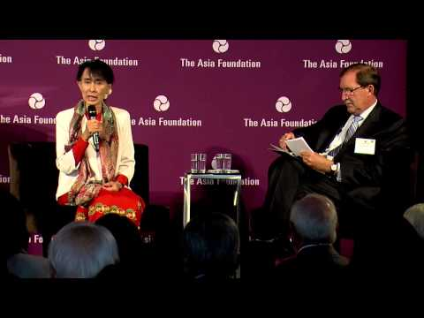 Daw Aung San Suu Kyi at The Asia Foundation - September 28, 2012