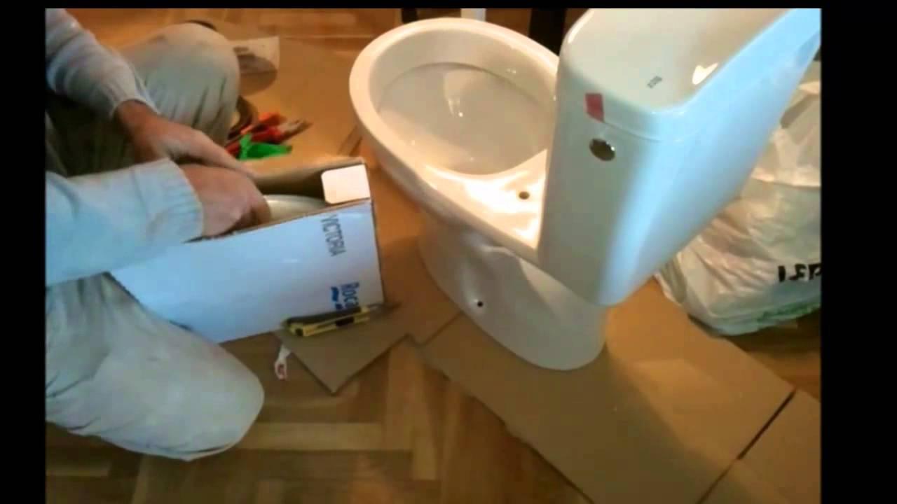 C mo instalar inodoro modelo victoria de la casa roca 2 for Modelos de inodoros roca