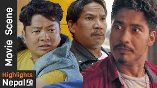 """""""श्रीमान बिदेशबाट फर्कदा श्रीमती फरार"""" Best of Actor BUDDHI TAMANG's Comedy Movie Scenes 2017/2074"""