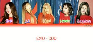 EXID (이엑스아이디) – DDD (덜덜덜) Lyrics (Han|Rom|Eng|COLOR CODED)