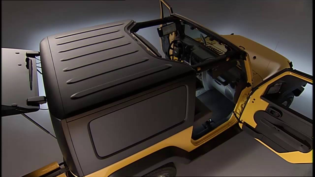 freedom top removal how to remove the jeep hardtop on 2017 jeep wrangler youtube [ 1280 x 720 Pixel ]