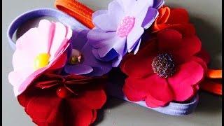 Flores de tecido fácil e linda Passo a Passo