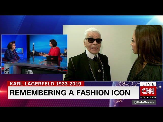 CNN KARL LAGERFELD TRIBUTE Suzy Menkes Vogue 19/2/19
