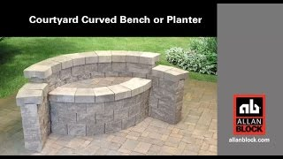 How to Build a Courtyard Curved Bench or Planter